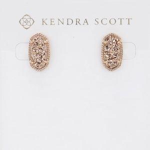 New Kendra Scott Ellie Rose Gold Drusy Earrings